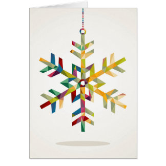 Happy Holidays Snowflake Shape With Triangle Card