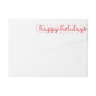 Happy Holidays Snowflake wraparound label
