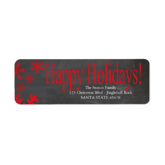 Happy Holidays snowflakes Holiday Address Label