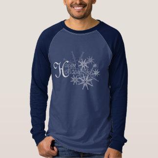 Happy Holidays Snowflakes Tshirts