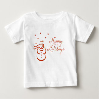 Happy Holidays Snowman Baby T-Shirt