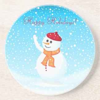 """""""Happy Holidays"""" Snowman Coaster"""