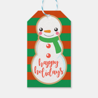 Happy Holidays | Snowman Cookie Gift Tags