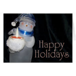 Happy Holidays Snowman Greeting