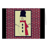Happy Holidays - Snowman - Greeting Card