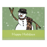 Happy Holidays Snowman Invitations