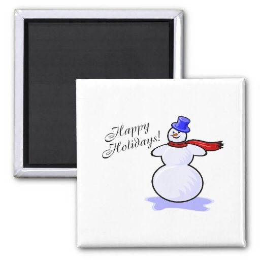 Happy Holidays (Snowman) Refrigerator Magnets