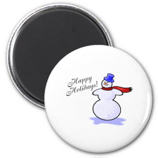 Happy Holidays (Snowman) Refrigerator Magnet