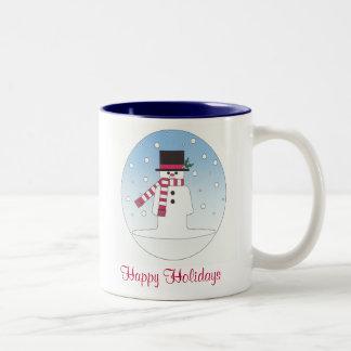Happy Holidays Snowman Mugs