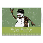Happy Holidays Snowman Notecards Note Card