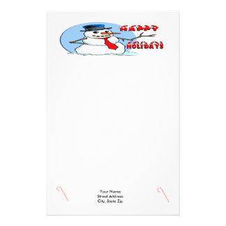 Happy Holidays Snowman Stationery
