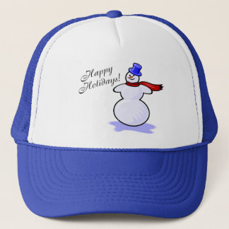 Happy Holidays (Snowman) Trucker Hat