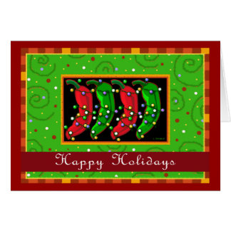 Happy Holidays Southwest Chiles Greeting Card