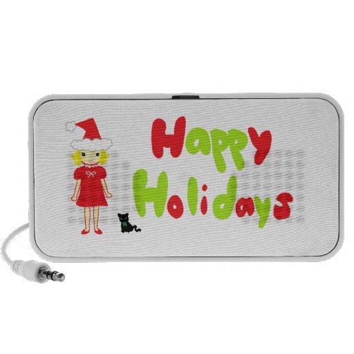 Happy Holidays Portable Speaker
