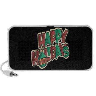 Happy Holidays Notebook Speakers