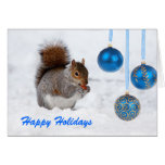 Happy Holidays Squirrel Christmas Card