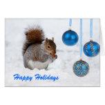Happy Holidays Squirrel Christmas Card