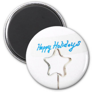 Happy Holidays Starlight! 6 Cm Round Magnet