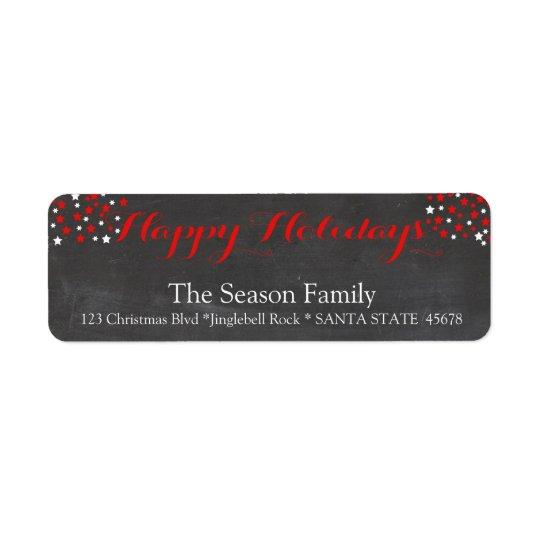 Happy Holidays  stars holiday label