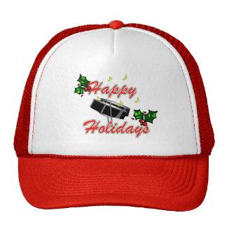 Happy Holidays steel pan cap Trucker Hats