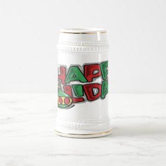Happy Holidays - Stein Beer Steins