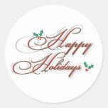happy holidays stickers