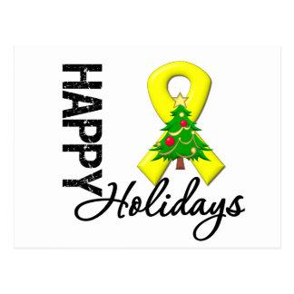 Happy Holidays Testicular Cancer Awareness Postcard
