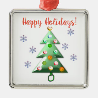 Happy Holidays the Pickleball way! Christmas Ornament
