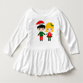 Happy Holidays Toddler Ruffle Dress