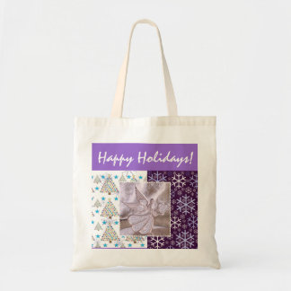 Happy Holidays Totebag Canvas Bags