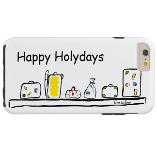 Happy Holidays Tough iPhone 6 Plus Case
