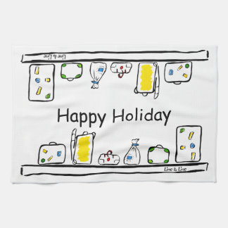 Happy Holidays Towels