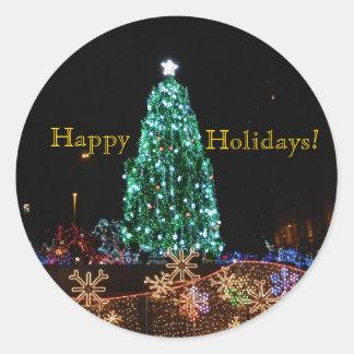 Happy Holidays Tree Sticker