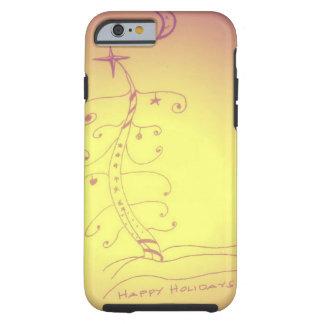 Happy Holidays tree Tough iPhone 6 Case