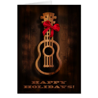 """""""Happy Holidays"""" Ukulele Card"""