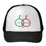 Happy Holidays Venn Diagram Hats