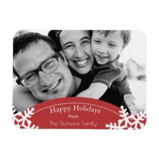 Happy Holidays w/Photo Rectangular Photo Magnet
