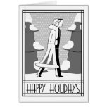 """Happy Holidays"" walk in the snow Greeting Card"