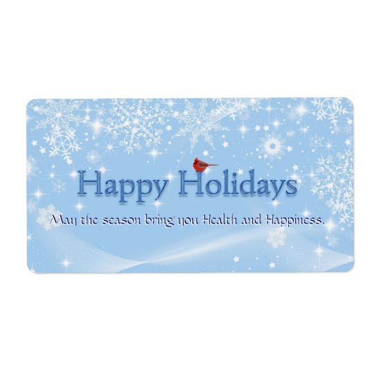 Happy Holidays Wine Label
