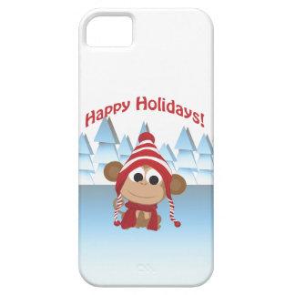 Happy Holidays! Winter Monkey iPhone 5 Case