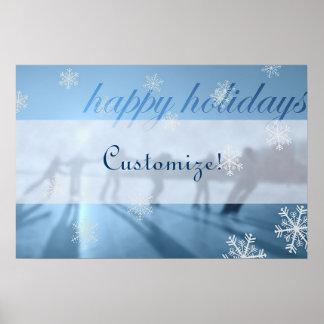 Happy Holidays Winter Season Print