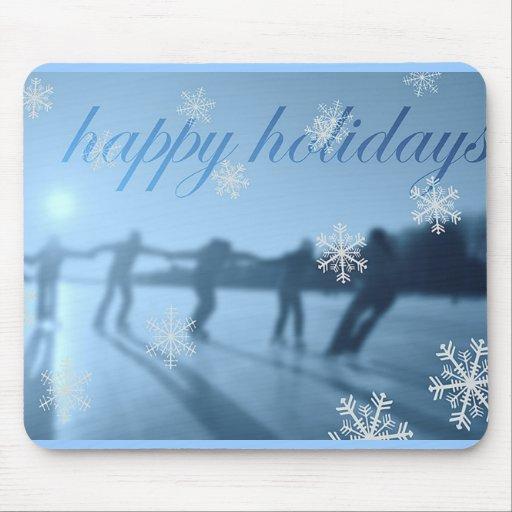 Happy Holidays Winter Season Snow Mousepad