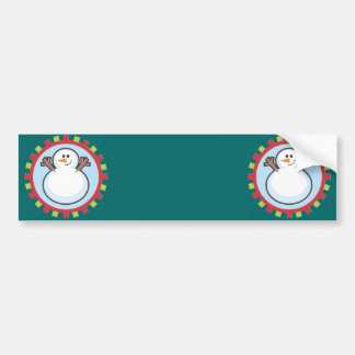 Happy Holidays Winter Snowman Bumper Stickers