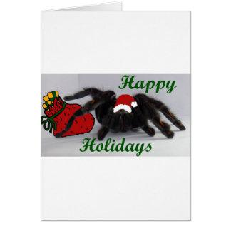 Happy Holidays! ... with a Tarantula? Card