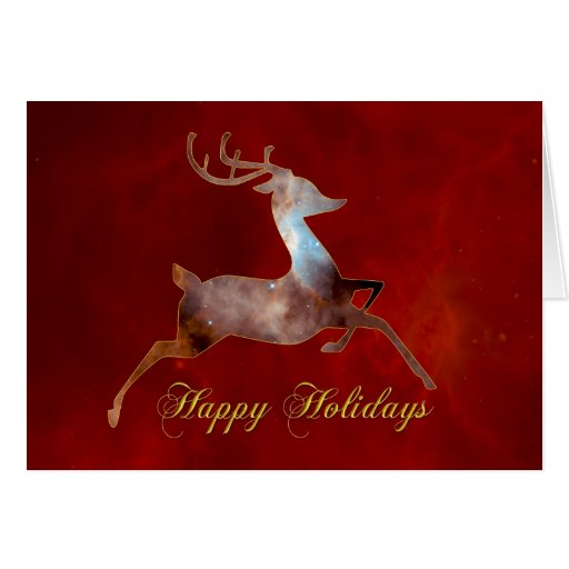 Happy Holidays with Reindeer – Hubble Telescope Cards