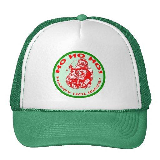 Happy Holidays with Vintage Santa Design Trucker Hats