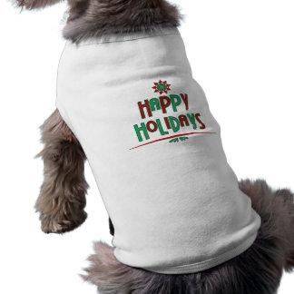 Happy Holidays Word Art Pet Shirt