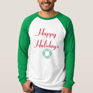 Happy Holidays Wreath Tshirts
