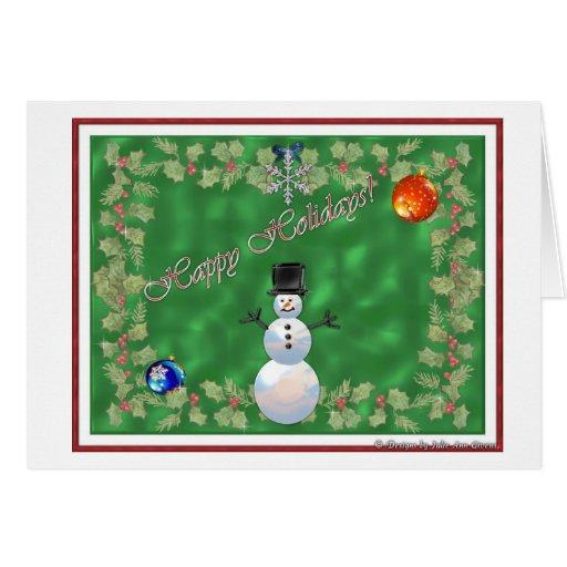 Happy Holidays--Xmas Snowman Cards