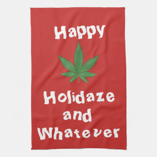 Happy Holidaze and Whatever Personalized Hand Towel